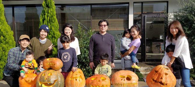ハロウィンかぼちゃ作り